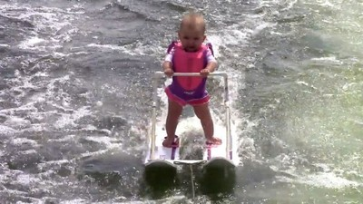 It's Friday, so Watch a Video of a Water-Skiing Baby Set a World Record