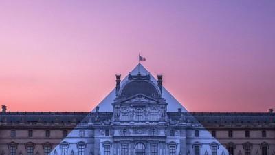 ¡La pirámide de cristal del Louvre desapareció (o eso parece)!
