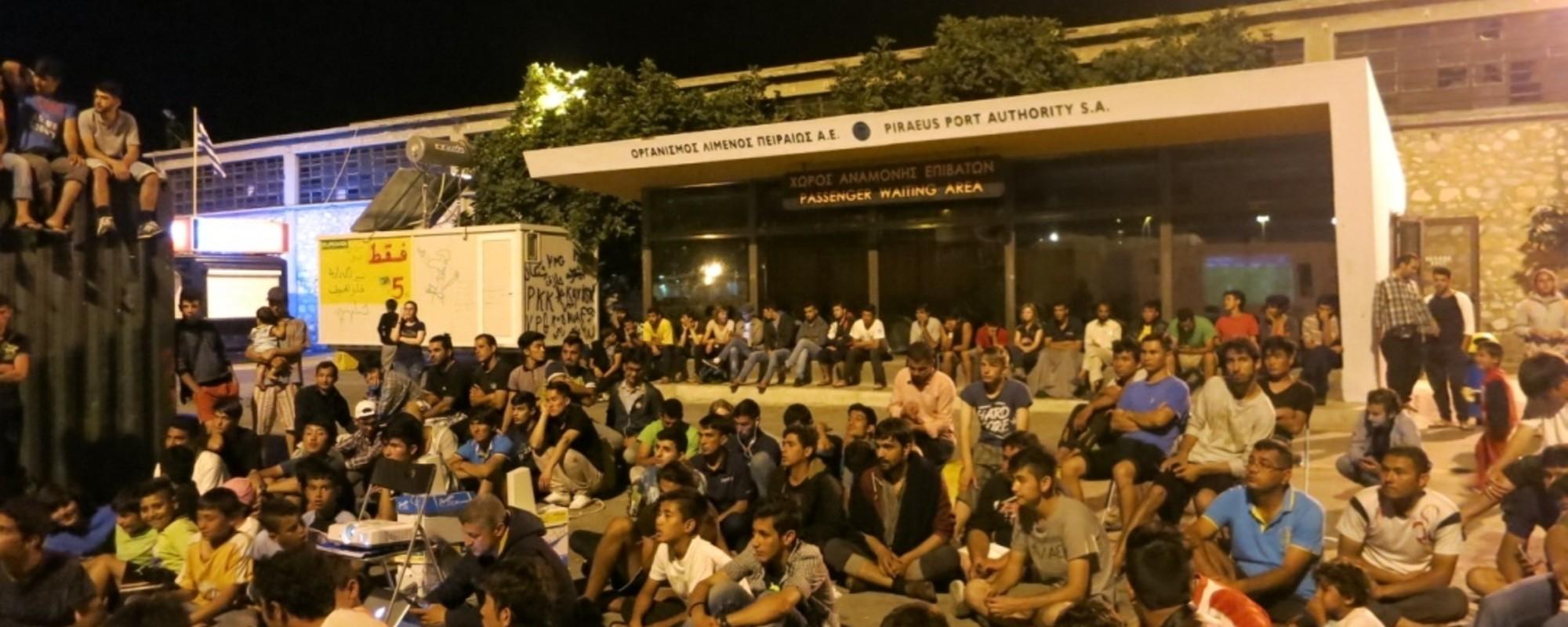 Das Champions League Finale im Flüchtlingscamp von Piräus