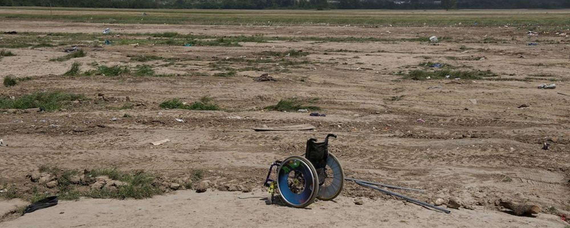 O que resta do campo de Idomeni depois da evacuação dos refugiados