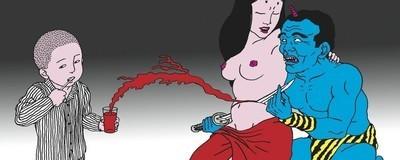 As ilustrações de Toshio Saeki mostram fantasmas aterradores e sexualidade grotesca