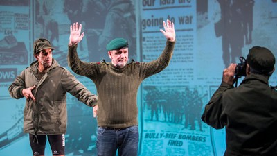 British and Argentine Soldiers Who Once Fought Each Other Are Now Sharing a Stage