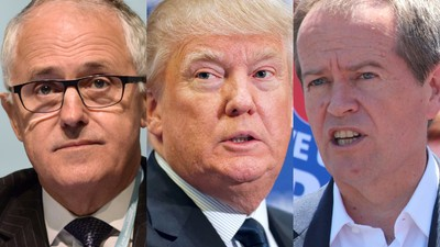 Shorten and Turnbull Finally Weigh in on the Big Issue: President Donald Trump