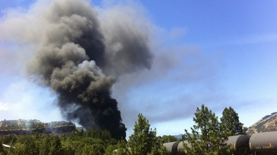 A 'Bomb Train' Derailed, Burst Into Flames, and Spilled Oil Into an Oregon River