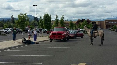 A Mysterious Horseman Lassoed a Wicked Bike Thief in a Walmart Parking Lot