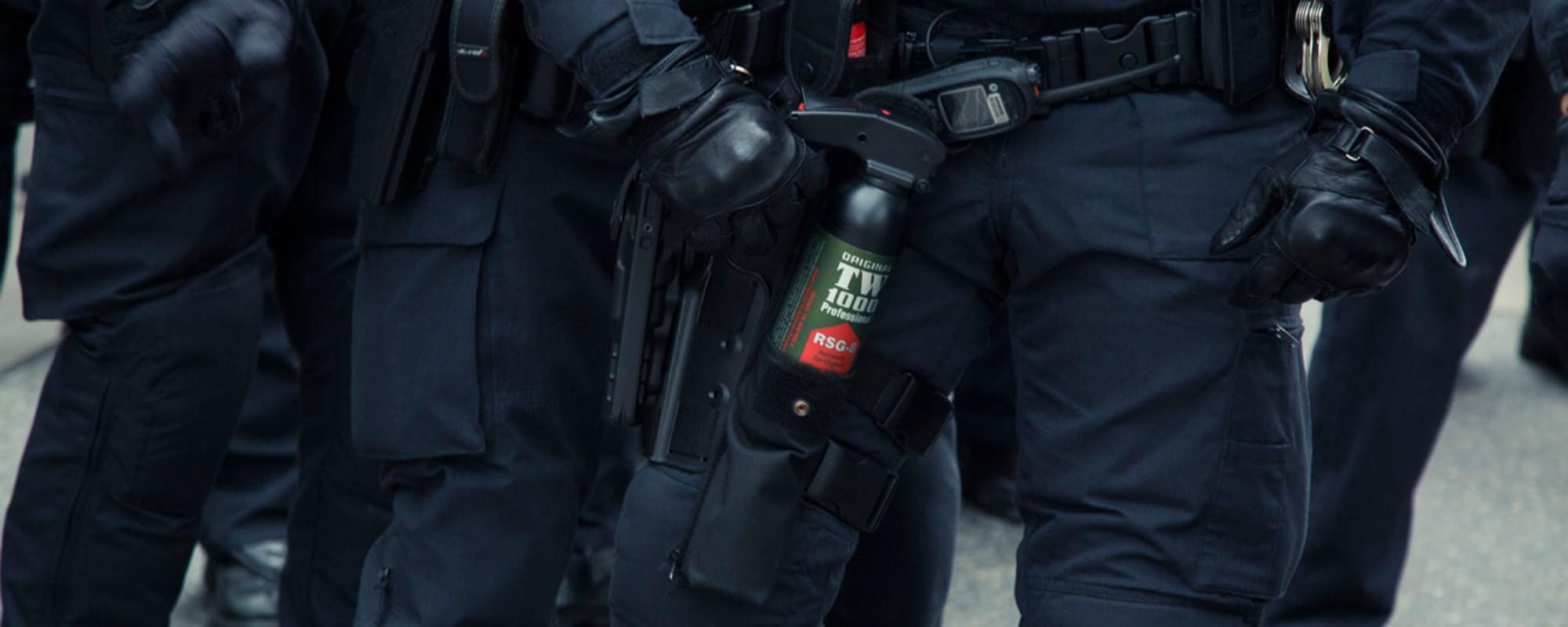 Pfefferspray und Blockaden: Fotos von der Demo der rechtsextremen Identitären