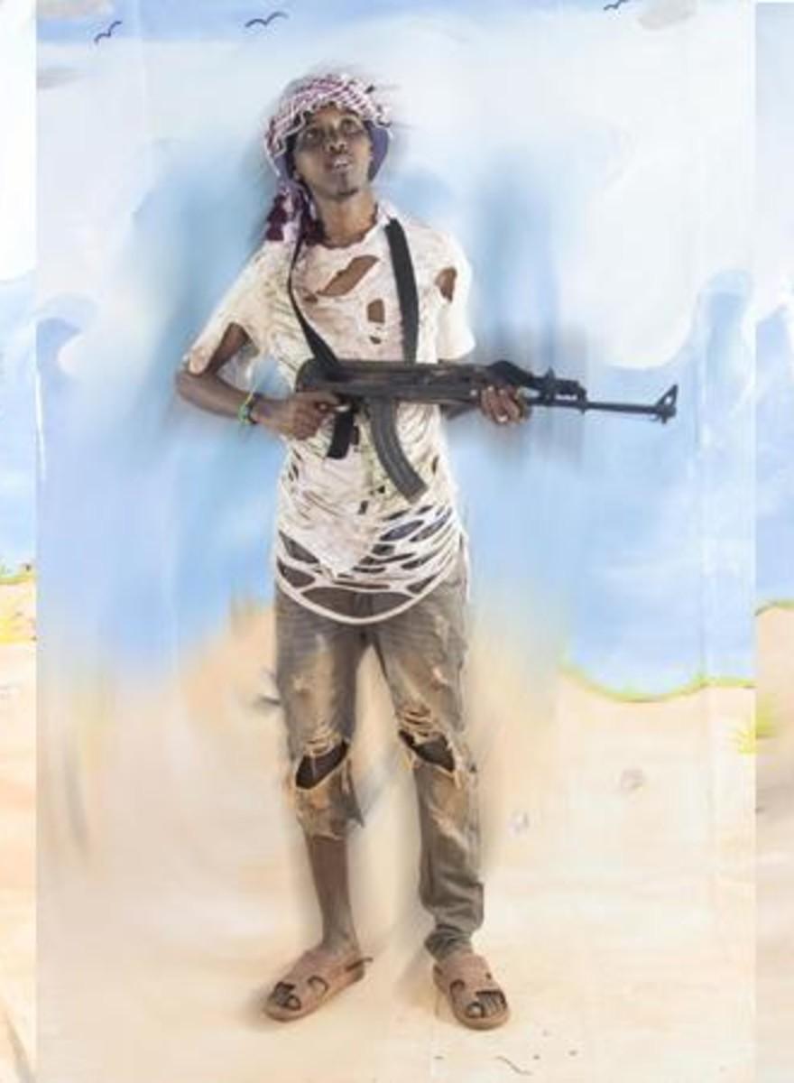 Diese Männer haben sich für die Medien als somalische Piraten ausgegeben