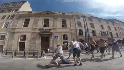 Un ultra ruso graba con una GoPro los combates contra los hooligans ingleses