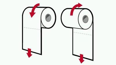 Ik vroeg een natuurkundige hoe je nou een wc-rol hoort op te hangen