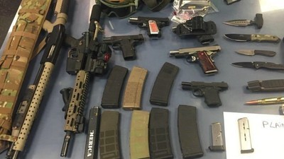Heavily Amed 'Gun Enthusiasts' Arrested in New York's Holland Tunnel Because of Cracked Windshield