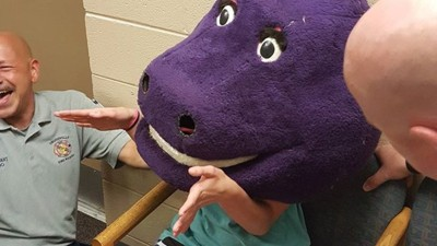 The Teen Who Got Trapped in a Barney Mask at a Sleepover Is the New Chewbacca Mom
