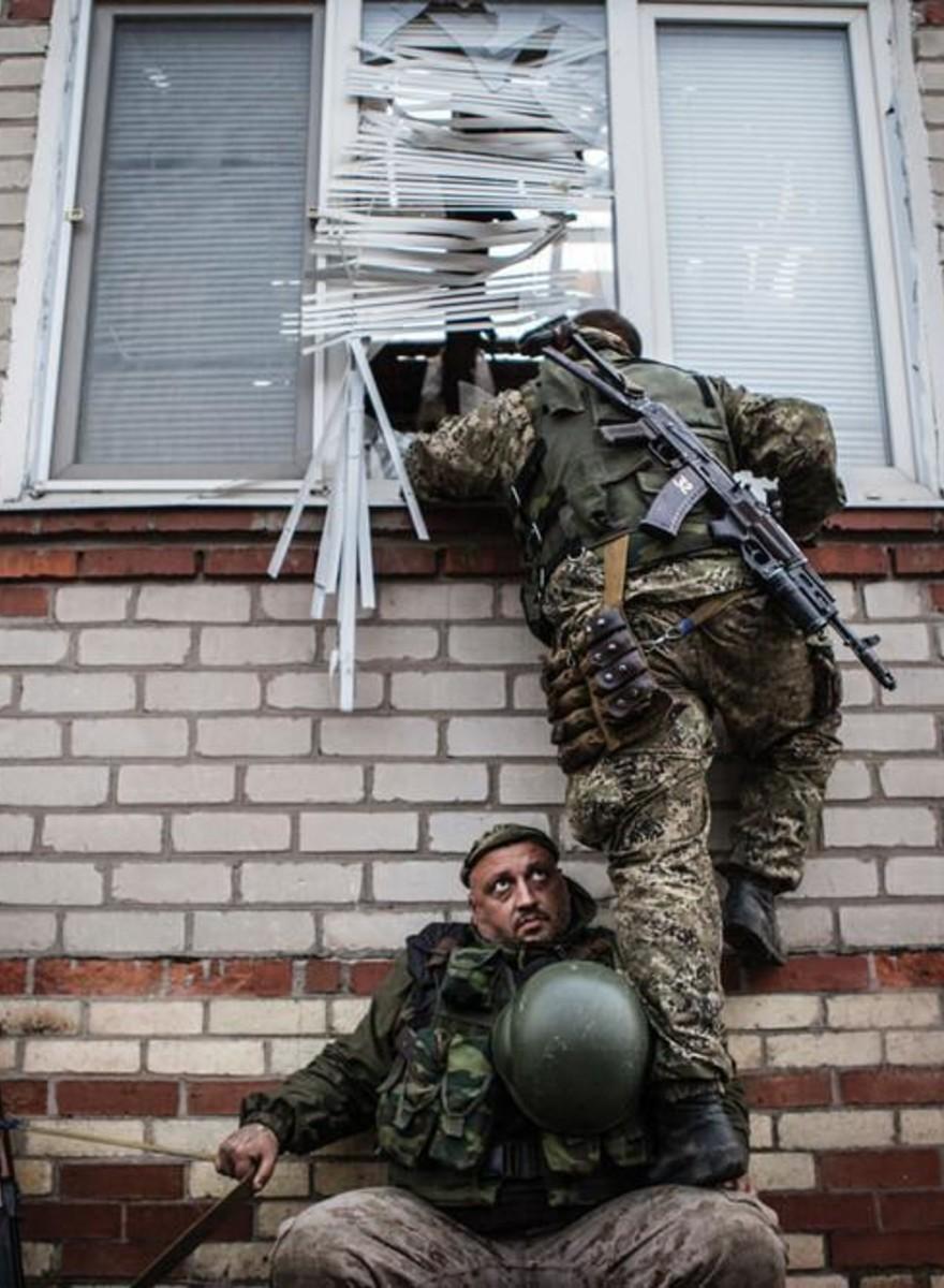 Fotografii din linia de front a conflictului din Ucraina