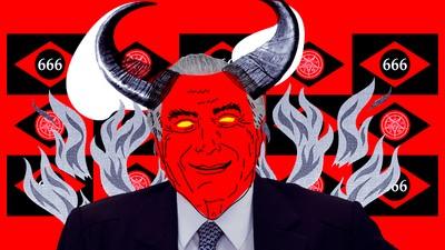 Parem com essas piadas bosta de Temer satanista