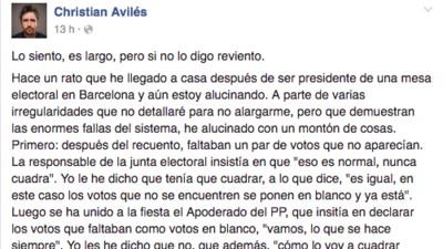 Hablamos con el chico que se ha hecho viral denunciando la facilidad del fraude electoral