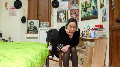 Foto delle case di studenti cinesi che vivono in Italia