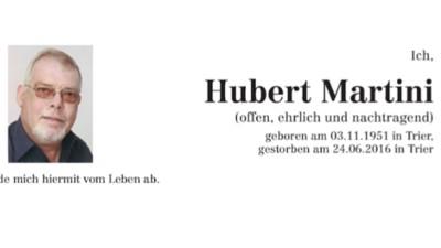 """""""Ihr seid alle ausgeladen!"""" Die ehrlichste Todesanzeige Deutschlands"""