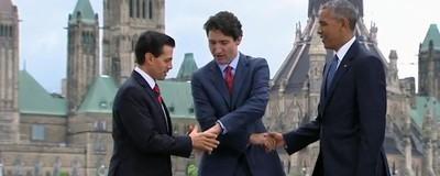 Peña Nieto vuelve a hacer el oso con Trudeau y Obama