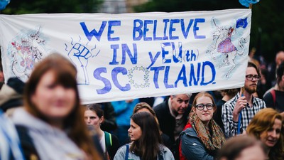 We Hung Out with Angry Protesters Who Want Scotland to Stay in the EU