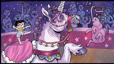 'Betsy the Circus Unicorn,' Today's Comic by Ida Eva Neverdahl