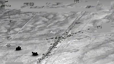 VÍDEO:El momento en el que un bombardeo de la coalición acaba con 250 soldados de ISIS