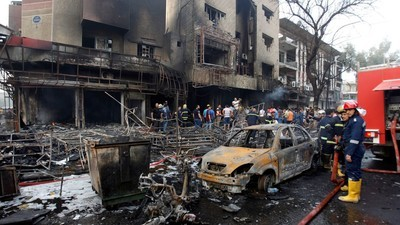 At Least 110 Killed in Baghdad Bombings Claimed by Islamic State