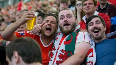 Hope, Despair and Lager: Hanging With Wales Fans in Cardiff Last Night
