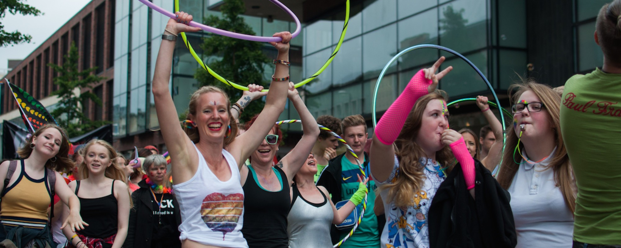 The Grins, Feather Boas and Fetish Leather of Bristol's Pride Parade