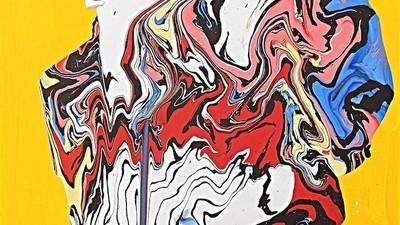 As incríveis pinturas abstractas de José Moñu