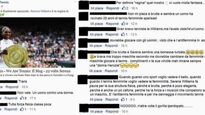 I commenti italiani contro Serena Williams sono sempre più imbarazzanti