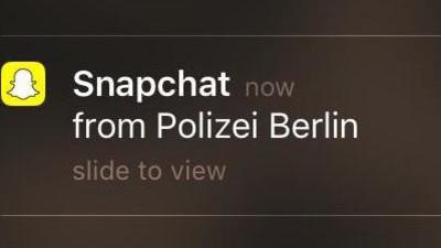 Ich habe mich eine Stunde mit der Polizei auf Snapchat unterhalten