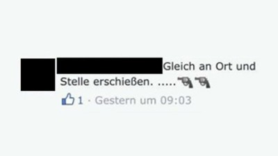 Facebook-Hasskommentatoren bekommen Besuch von der Polizei