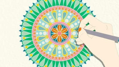 ¿Por qué pintar mandalas se convirtió en una especie de terapia?