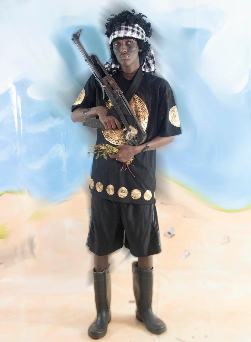 Portretten van echte Somalische neppiraten