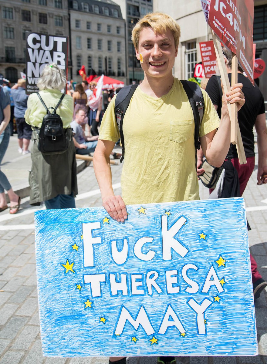 We Asked Some Protesters What They Thought About the UK's New Prime Minister