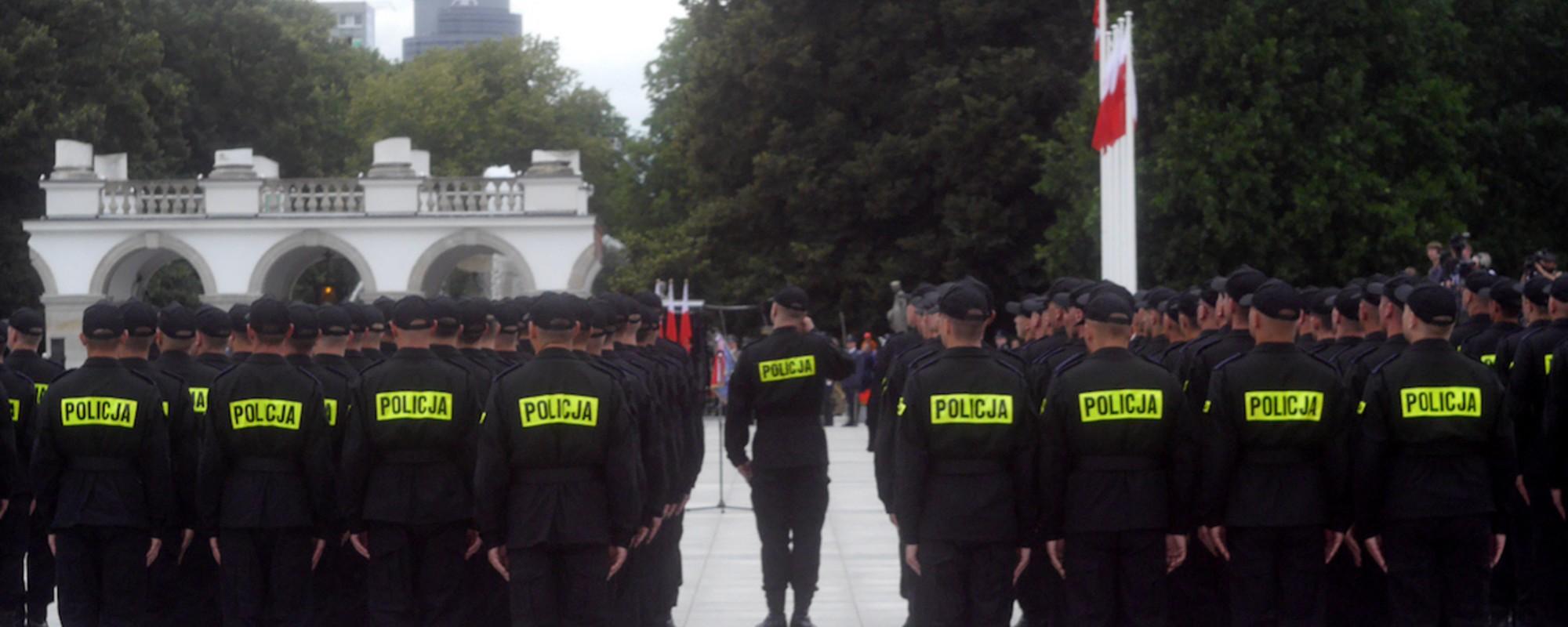 Dużo policjantów na Święcie Policji