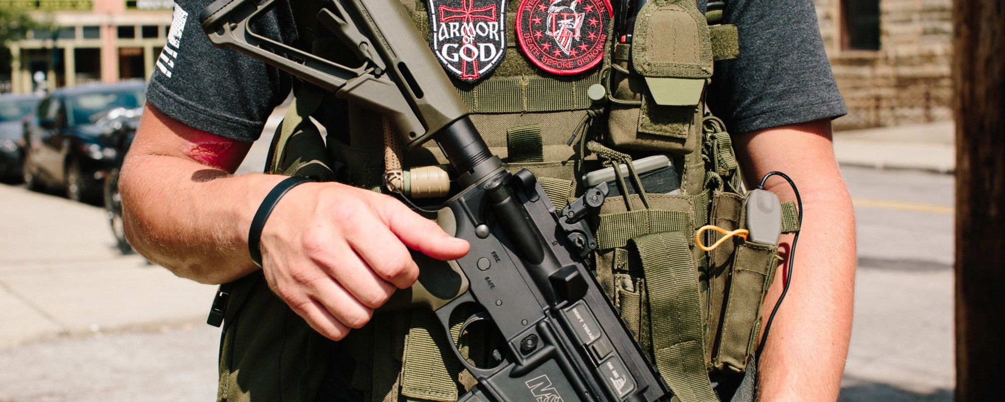This Militia Group Walked Around the RNC with AR-15s, AK-47s, and G3s