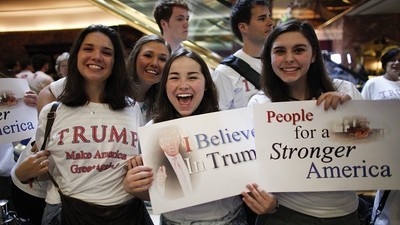 De tieners die van Trump houden