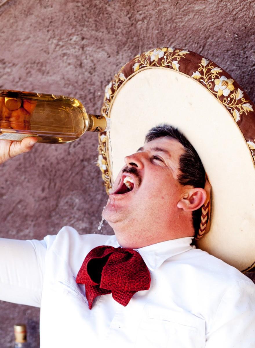 De snorren en sombrero's van de Mexicaanse cowboys