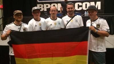Ein deutscher Beer-Pong-Spieler bei der WM in Las Vegas