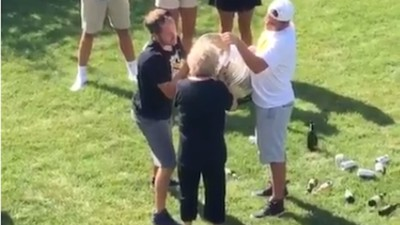 Watch Phil Kessel's Grandma Crush Booze out of the Stanley Cup