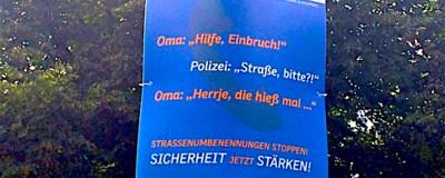 Dieses deutsche Plakat ist eine der dümmsten Wahlwerbungen aller Zeiten