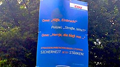 Dieses CDU-Plakat ist eine der dämlichsten Wahlwerbungen aller Zeiten