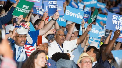 Bernie Bros Crashed the First Night of the Democratic Convention