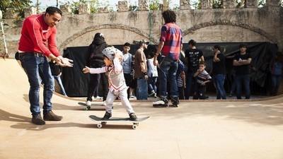Dans l'un des premiers camps de skate de Palestine