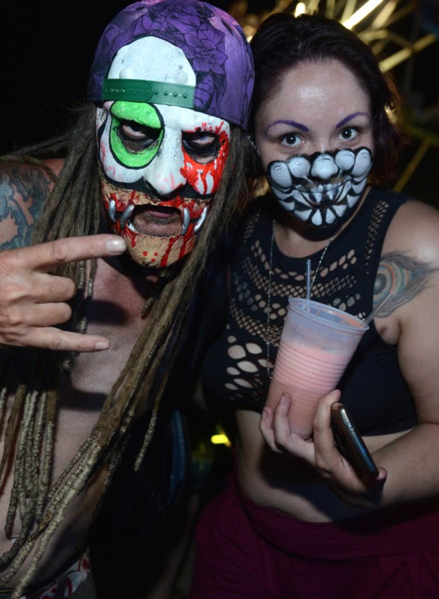 Foto dall'ultimo raduno dei juggalo, i figli degli Insane Clown Posse