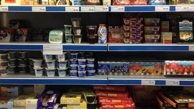Supermarket prodávající jídlo ze skládky