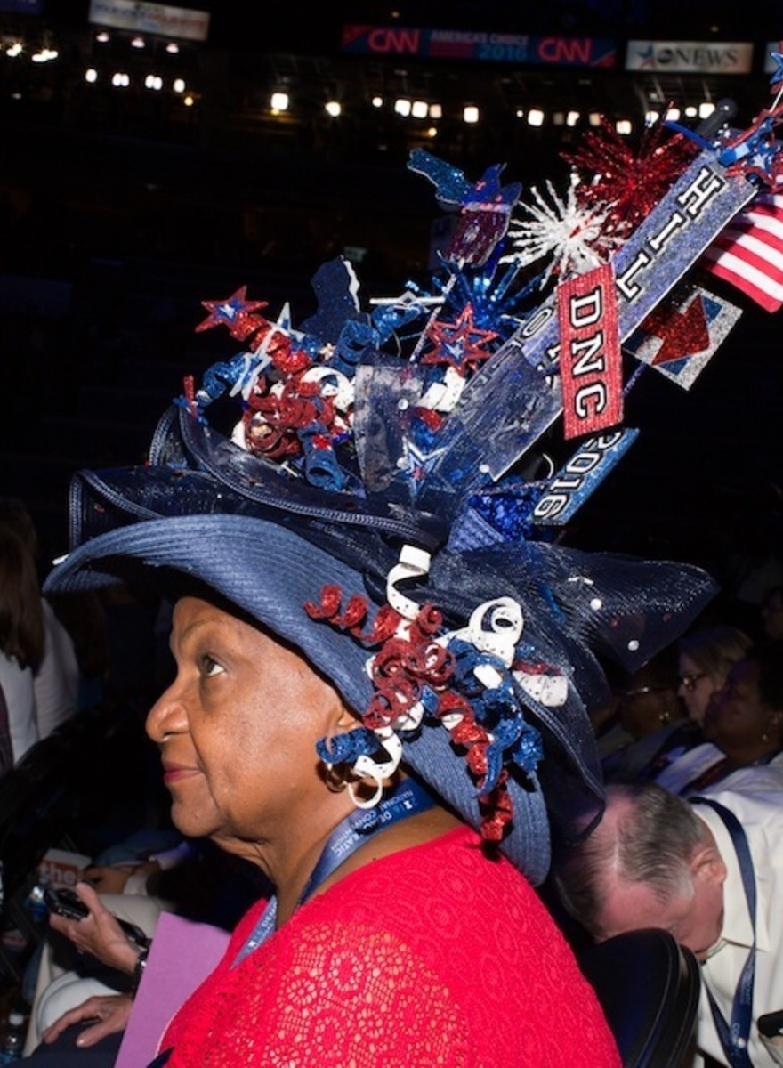The Beauty and Terror of the Funny Hats at the Democratic National Convention