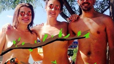Fuimos al Día Nudista en una alberca de  Madrid