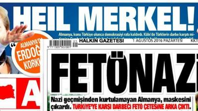 Türkische Zeitungen machen Merkel zu Hitler