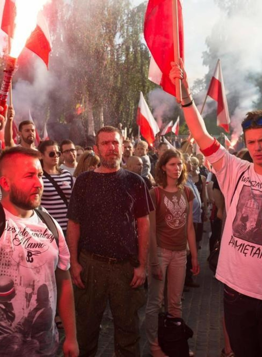 Photos of Polish People Marching on the Anniversary of the Warsaw Uprising